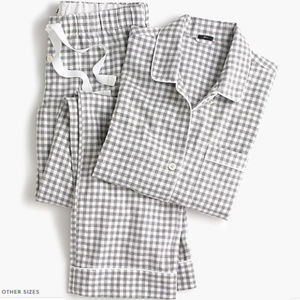 J. CREW pajama set in flannel gingham. NWT Size XS